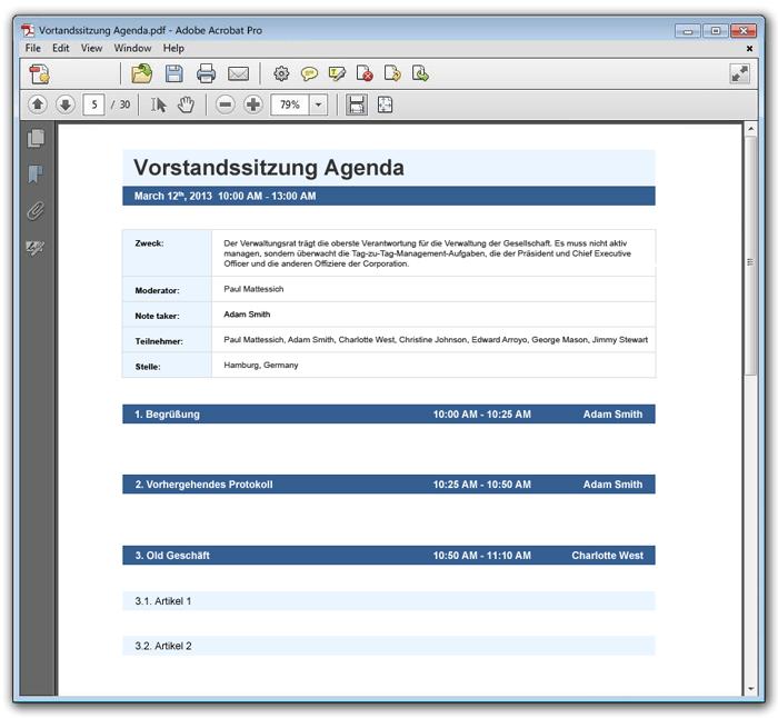 Agenda Gestalten
